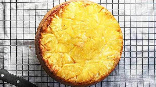 Liliana Battle's upside down pineapple cake