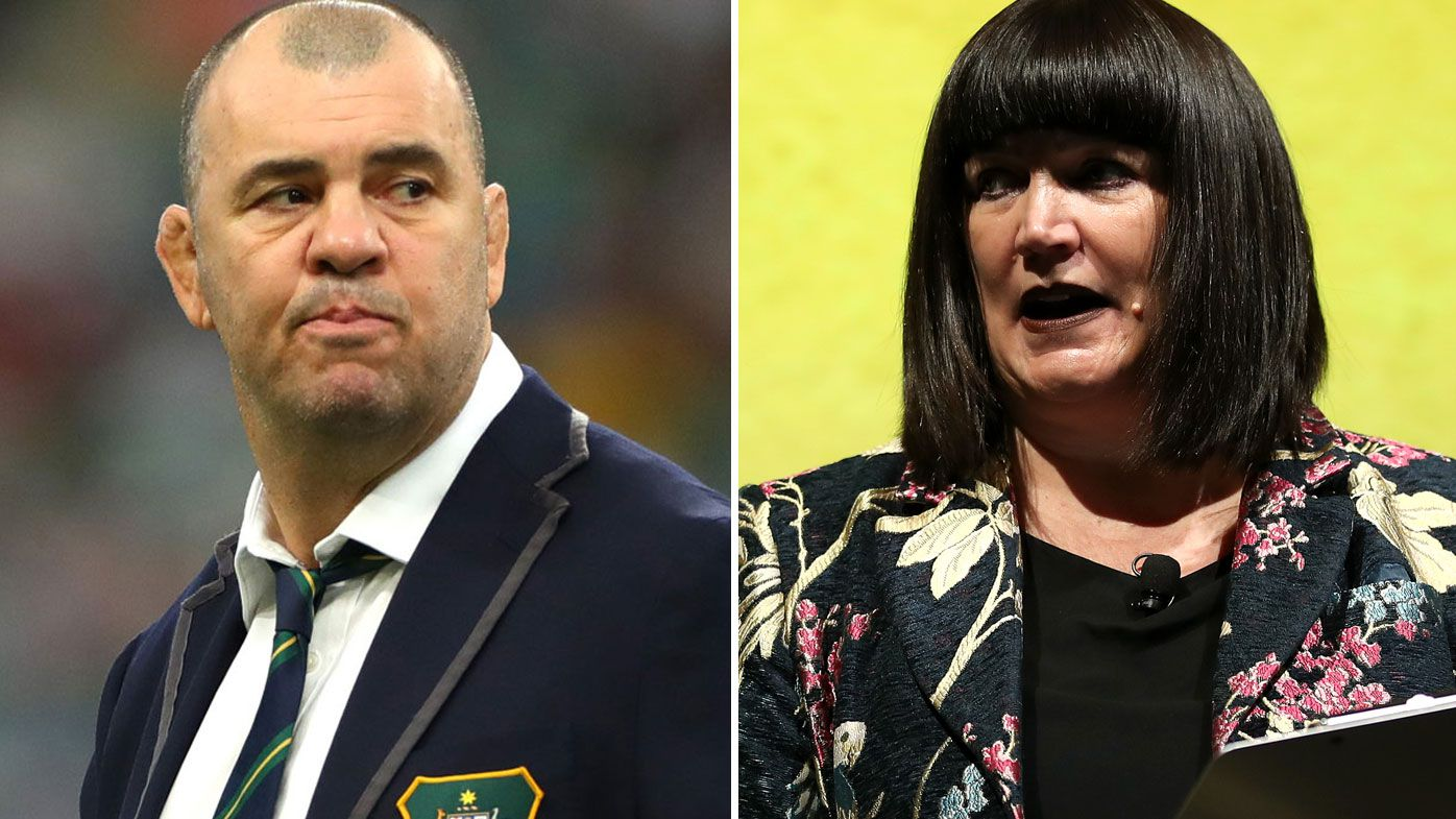 Michael Cheika and Raelene Castle reportedly clash