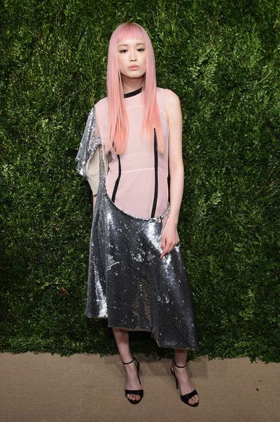 "<p><a href=""https://style.nine.com.au/2017/03/30/14/30/fernanda-ly-abuse-model"" target=""_blank"">Fernanda Ly</a></p> <p>Straight pink hair is her signature and Ly is a favourite of Dior and Louis Vuitton.</p> <p>2017 highlights: The Dior campaign and speaking out against abuse in the industry. Go Fernanda!</p> <p>In 2018...: It's time for Australian advertisers to catch up with Ly's global appeal. </p>"