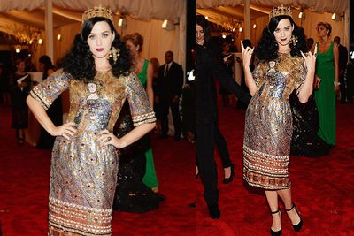 Katy Perry chose Dolce & Gabbana for the huge star-studded event.<br/>