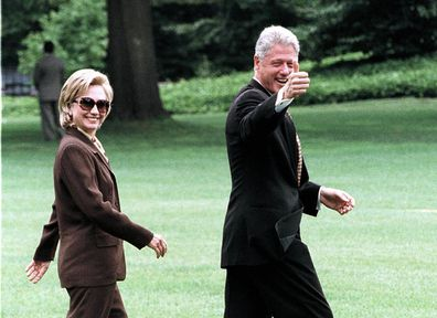 President Bill Clinton and first lady Hillary Rodham Clinton in 1998.