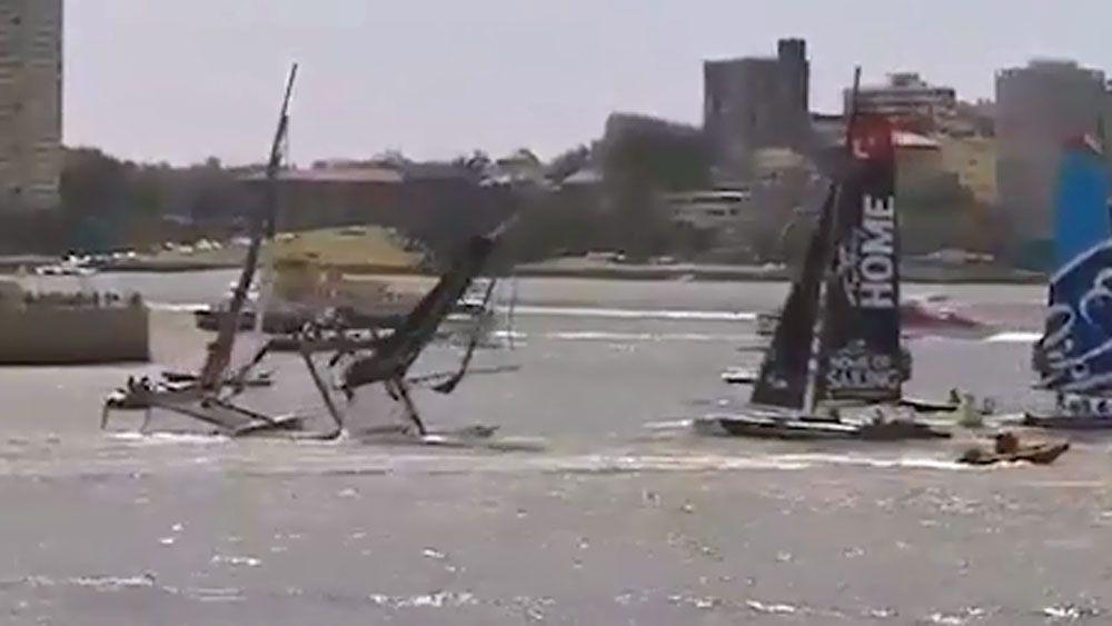 Italian boat capsizes on Sydney Harbour