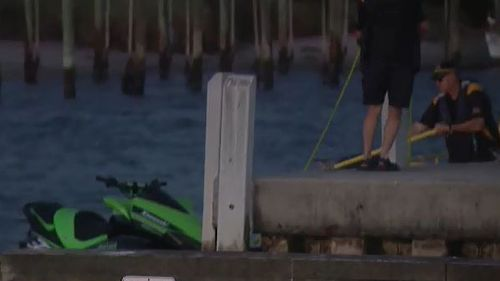 The jet ski was pulled from the Patterson River. (9NEWS)