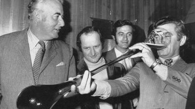 Bob Hawke was immortalised by the Guinness Book of Records in 1954 for sculling 2.5 pints of beer in 11 seconds