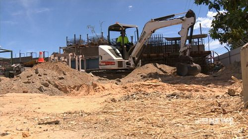 Police dug at the factory in 2013. (9NEWS)