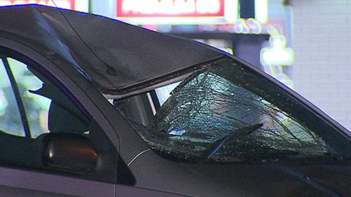 The driver of the Yaris is assisting police. (9NEWS)