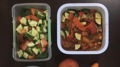 Raphaela Wiget's meal preparation
