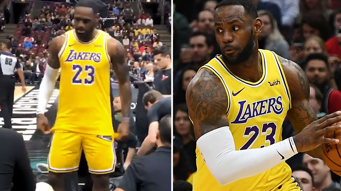 LeBron James fires back at heckling fan