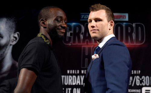 Terence Crawford wants Jeff Horn's welterweight world title. Picture: AAP