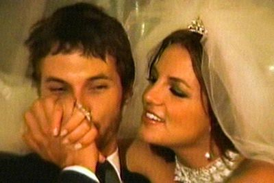 Not to worry, there's another good wedding where that one came from! Britney married boyfriend of three months, backup dancer Kevin Federline, in July 2004. Not without controversy, though. Federline had recently broken up with actress Shar Jackson, who was still pregnant with their second child at the time!