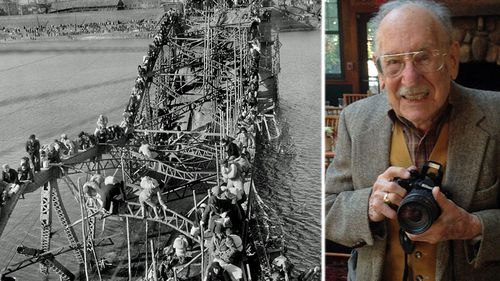 Max Desfor's photo of Korean refugees fleeing across a bombed bridge helped earn him a Pulitzer Prize. (Photos: AP).