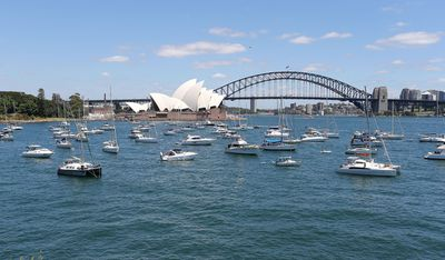 Boat owners snatched up prime spots in Sydney Harbour. (Getty)
