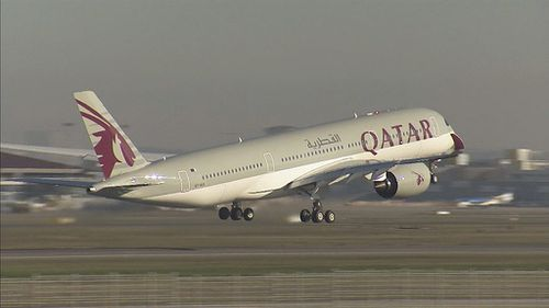 Qatar Airways is the first customer to receive the new Airbus A350. (9News)