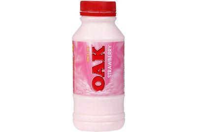 Oak 300ml strawberry-flavoured milk: 33.6g sugar per serve