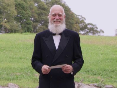 David Letterman makes surprise appearance during the Emmy Awards in September 2020.