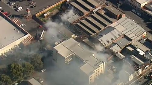 Authorities believe the fire was deliberately lit. (9NEWS)