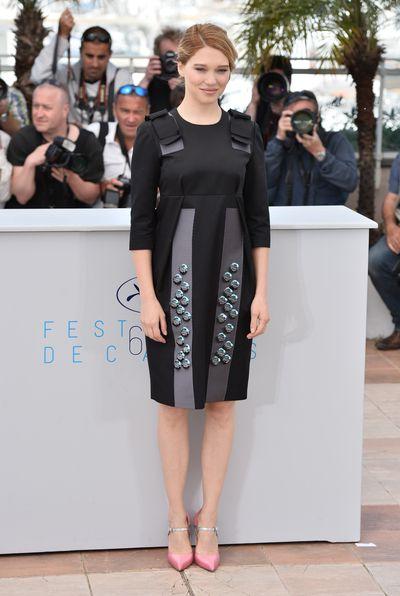<p>Lea Seydoux at the <em>Lobster</em>photocall</p>