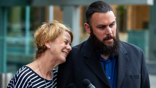 Barbara Spriggs and her son Clive gave evidence at the royal commission.