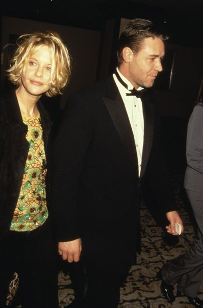 Meg Ryan & Russell Crowe at the 19th Annual Academy Awards Luncheon in 2000 in Beverly Hills, CA.