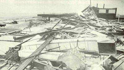 Port Hedland in Western Australia has been hit by two recorded category five cyclones. The first was Cyclone Joan in 1975. No lives were lost but damage totalled more than $20m. (Supplied)