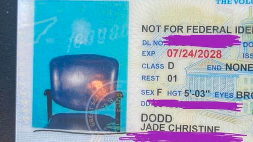 The Tennessee Department of Safety and Homeland Security told CNN the error happened when the wrong image was captured and saved to Dodd's profile.