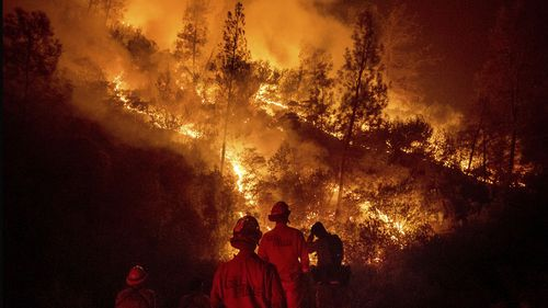 A fire the size of Los Angeles has gained ground in California, and crews don't expect to be able to bring it under control until next month.