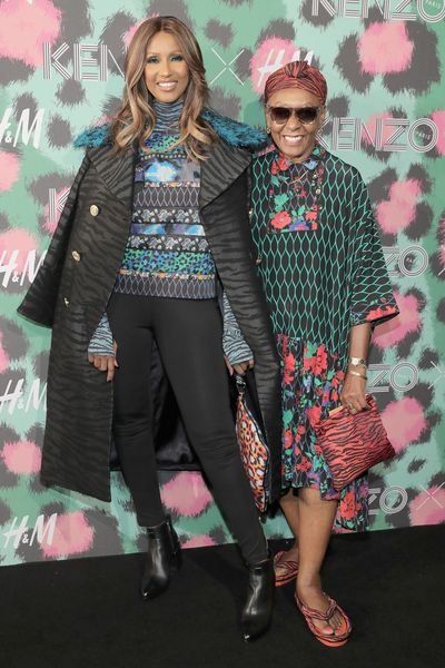 Iman and Bethann Hardison wearing Kenzo x H&M, at Kenzo x H&M