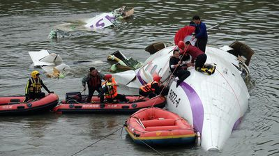 There are fears some passengers may still be trapped inside the cabin. (Getty)