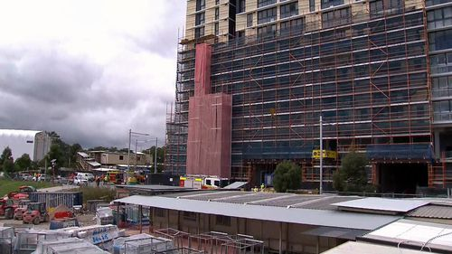 The incident occurred at a construction site on Epping Road in Macquarie Park.