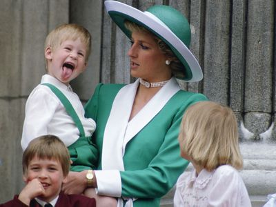 Trooping the Colour: Prince Harry lets loose