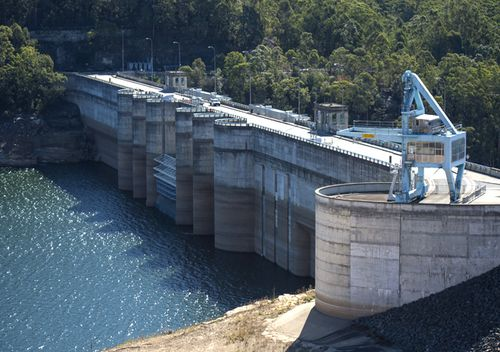 Level two water restrictions start today as parts of New South Wales continue to struggle through severe fire and drought devastation. Water levels at Warragamba Dam (pictured) have been significantly depleted.