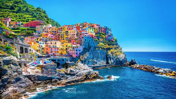 Cinque Terre is a series of colourful fishing villages on the Italian Riviera.