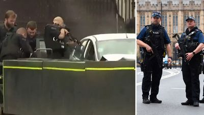 Terror cops raid homes after Westminster 'attack'