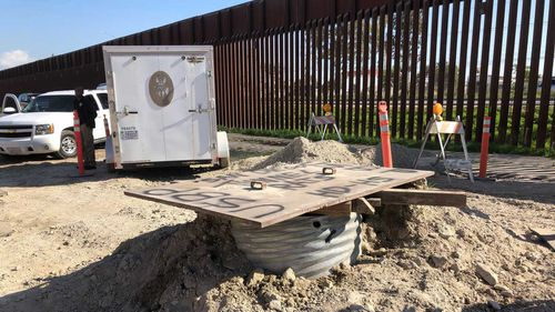 The tunnel went underneath Donald Trump's controversial border wall between San Diego and Tijuana.