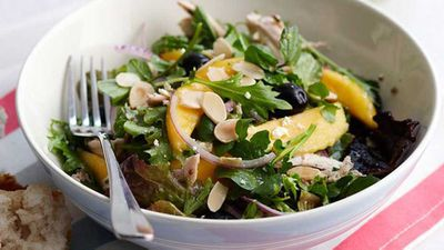 "Recipe:&nbsp;<a href=""http://kitchen.nine.com.au/2016/05/16/13/31/mango-and-chicken-salad"" target=""_top"">Mango and chicken salad</a>"