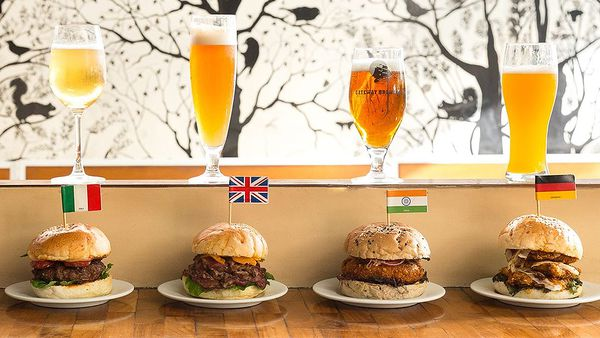 International beers and burgers (Facebook)