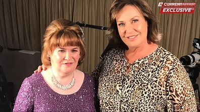 Susan Boyle and Tracy Grimshaw.