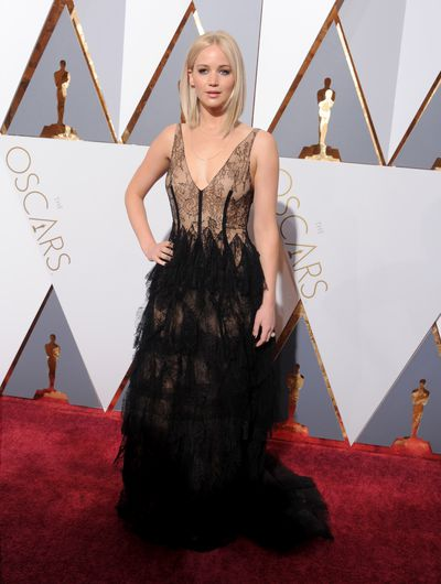 <p>Jennifer Lawrence in Dior.</p> <p>Don't most people realise that Jennifer has a hefty contract with the French fashion house? If she's on a red carpet, chances are it's Dior. Give Google a rest.</p>