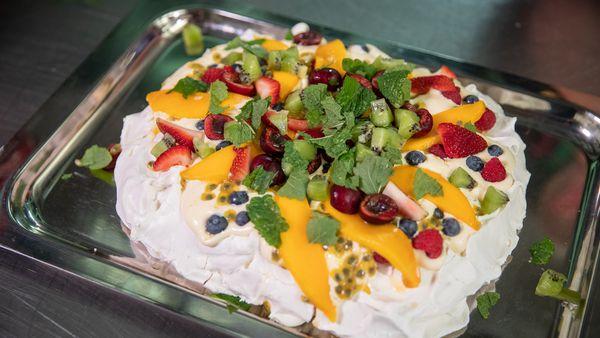 Chef Luke Mangan's easy summer pavlova