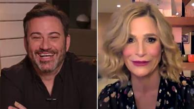 Jimmy Kimmel and Kyra Sedgwick