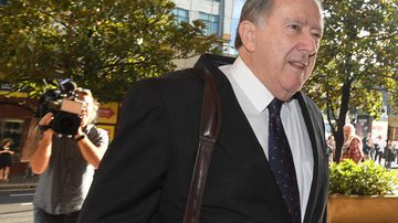 Graeme Bryan Curran, 68, is on trial in the NSW District Court after pleading not guilty to assaulting a teenage boy in the 1980s. (AAP Image/Peter Rae)