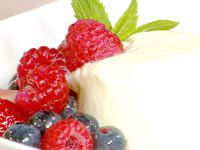 Orange yoghurt pannacotta