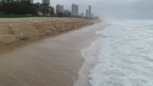 Beaches were closed up and down the coast today. (9NEWS)
