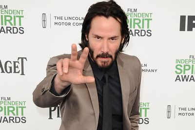 """A paparazzi pic showing a pensive looking Keanu Reeves in 2010 not only spurred a bunch of """"Sad Keanu"""" memes but also makes him lucky Bachelor number three.<br/><br/>Katie can cheer you up, Keanu! Plus your names both start with K... it worked for Kim and Kanye.<br/><br/>Image: Getty"""