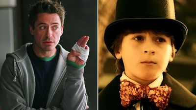 Indio Falconer and Robert Downey Jr