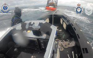 Three men arrested in high-seas raid off NSW coast over drug importation