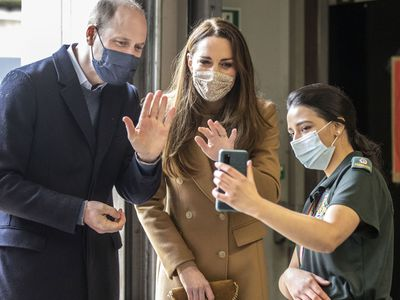 William and Kate FaceTime with a paramedic, March