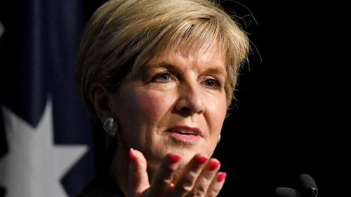 "Julie Bishop has declared Sam Dastyari's position is ""untenable"". (AAP)"