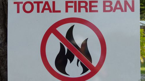 A total fire ban is in place for much of Australia.