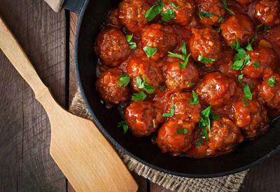 "Recipe: <a href=""/recipes/ibeef/9057256/barbecue-wagyu-beef-meatballs"" target=""_top"">Barbecue wagyu beef meatballs</a>"